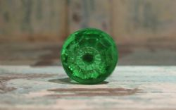 Coloured Glass Door Knobs - Green